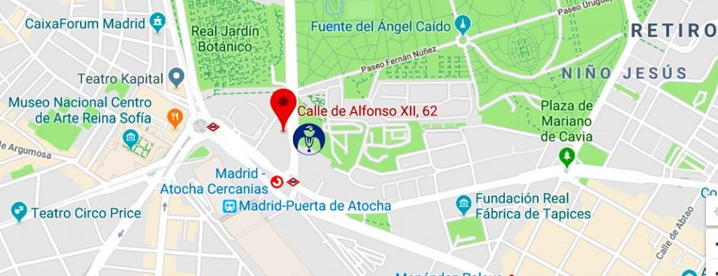 MAPA DE UBICACION MADRID